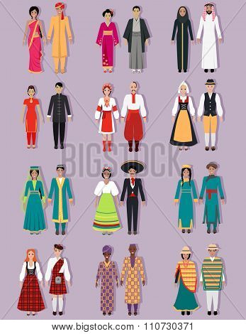 Set of National Costumes Design