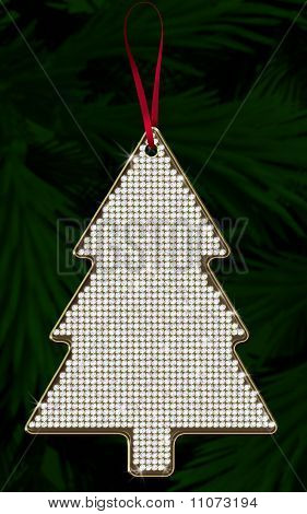 Diamond Christmas Ornament