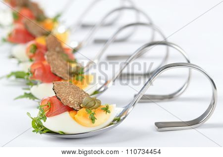 Appetizers with fresh truffles