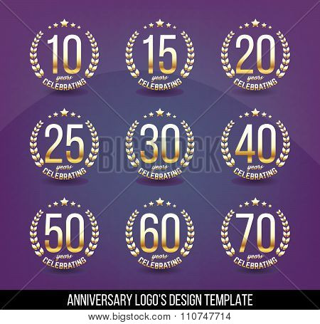 Collection of anniversary logo's.