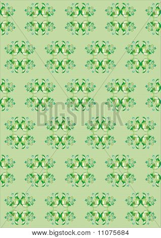 background repeating pattern and wellpaper in green color