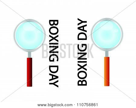 Magnifying Glass Looking For Boxing Day Promotion