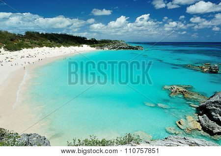 Pink Beach In Bermuda Islands