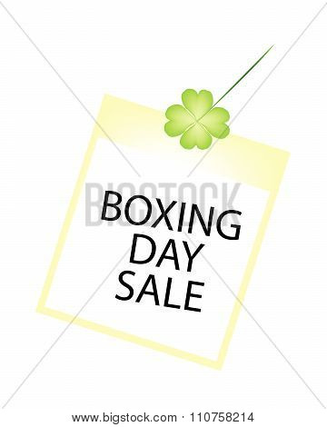 Boxing Day Photos Frame With Clover Plant
