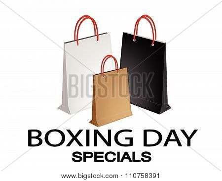 Paper Shopping Bags For Boxing Day Special
