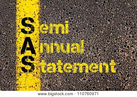 Accounting Business Acronym Sas Semi Annual Statement