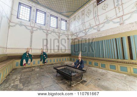Zuluflu Guards Inside Topkapi Palace, Istanbul, Turkey