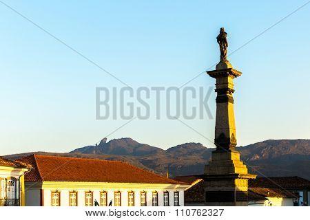 Tiradentes square in Ouro Preto, Minas Gerais, Brazil