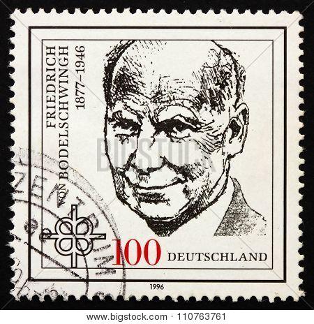 Postage Stamp Germany 1996 Friedrich Von Bodelschwingh, Theologi