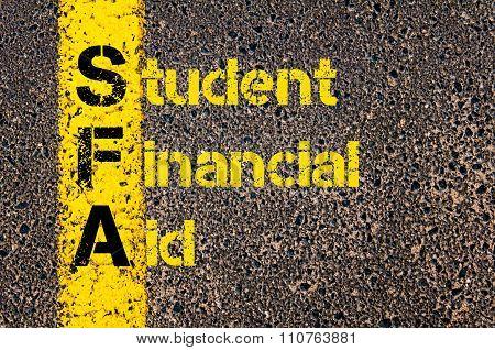 Accounting Business Acronym Sfa Student Financial Aid