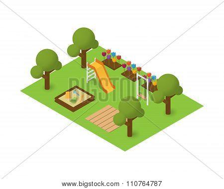 Vector isometric playground
