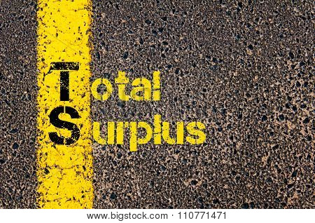 Accounting Business Acronym Ts Total Surplus