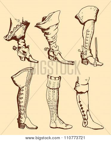 Men's Boots Of Different Times