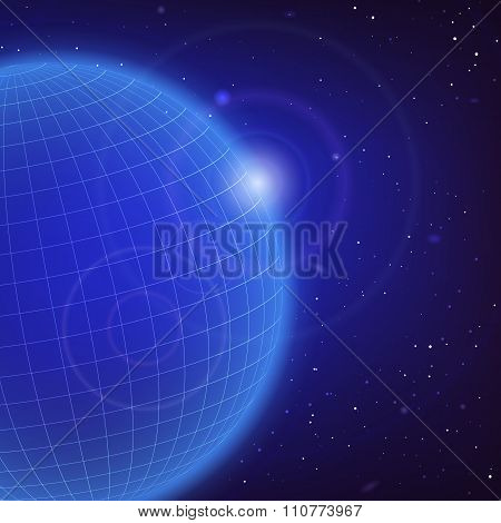 Cosmic Blue Background