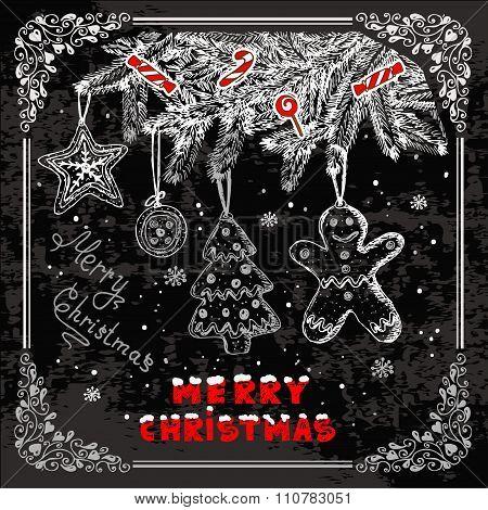 retro christmas background 1