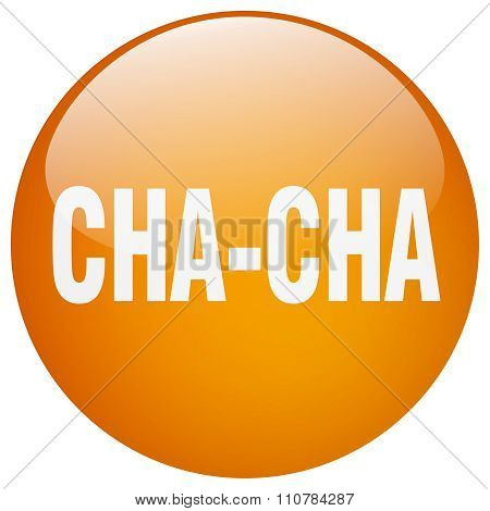 Cha-cha Orange Round Gel Isolated Push Button