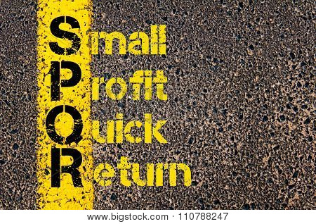 Accounting Business Acronym Spqr Small Profit Quick Return