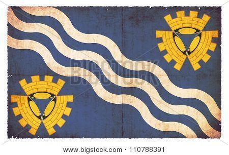 Grunge Flag Of Merseyside (great Britain)