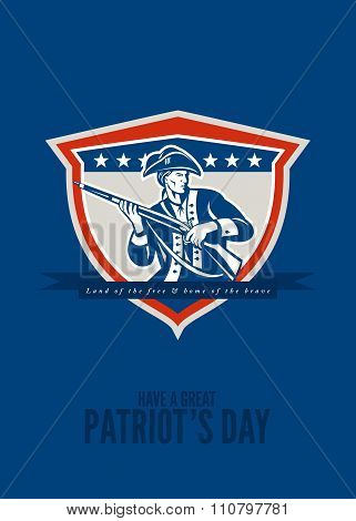 Patriots Day Greeting Card American Patriot Musket Rifle