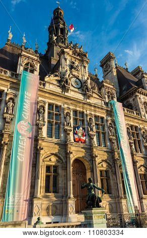 The Town Hall Of Paris, France.