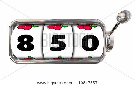 850 number on slot machine wheels for best possible credit score, rating or report