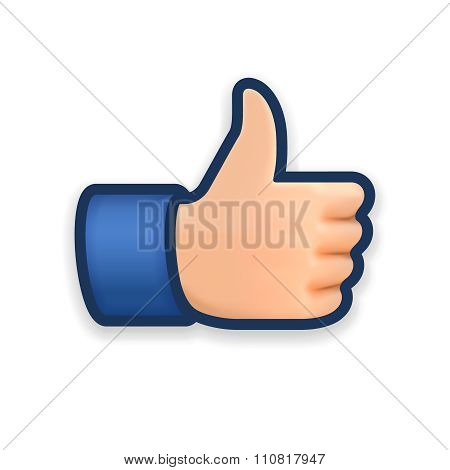 Like icon, emoji thumb up symbol
