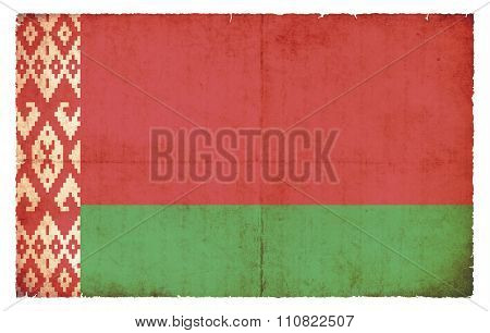 Grunge Flag Of Belarus