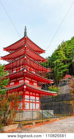 Chureito pagoda at Kawaguchiko, Japan