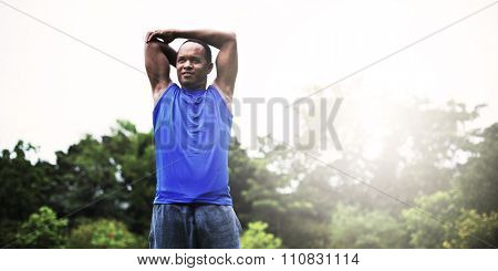 Sportman Health Care Fit Runner Athlete Body Cardio Concept