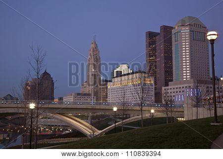Downtown Columbus, Ohio along the Scioto Greenway