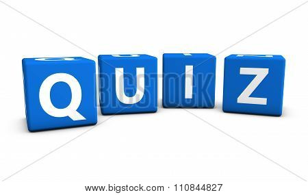 Quiz Sign Blue Cubes