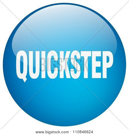 Quickstep Blue Round Gel Isolated Push Button