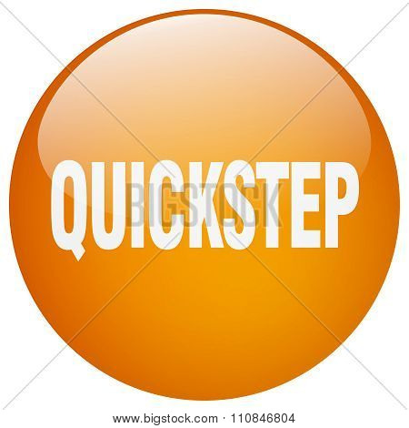 Quickstep Orange Round Gel Isolated Push Button