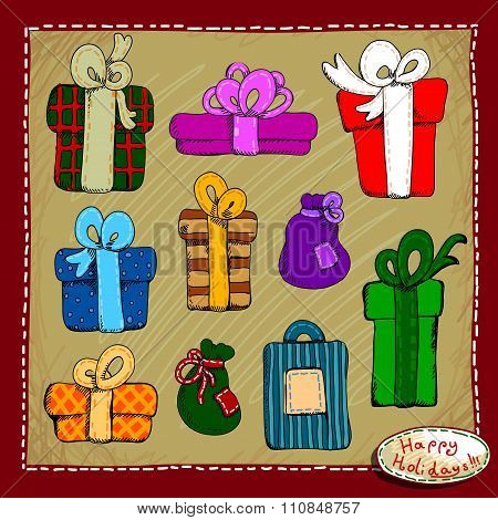 set of holiday  gifts