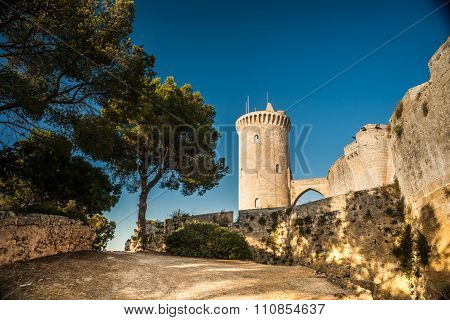 Bellver Castle fortress in Palma-de-Mallorca
