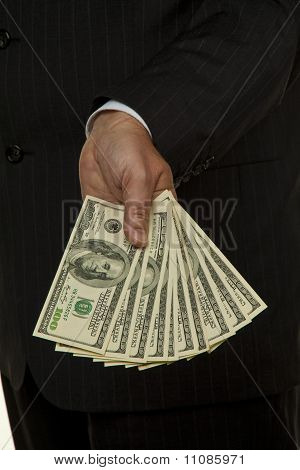 Manager With Dollar Bills