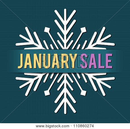 january sale vector
