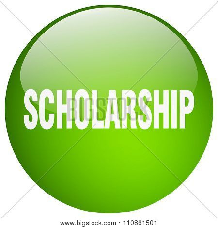 Scholarship Green Round Gel Isolated Push Button