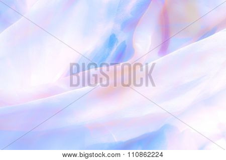 Textured Fine Silk - Serenity And Rose Quartz Pastel Tone