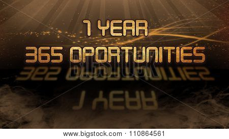 Gold Quote - 1 Year, 365 Opportunities