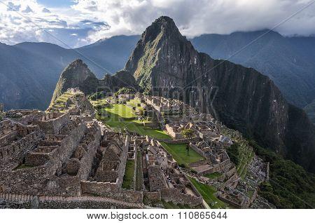 Before Closing At Machu Picchu, The Sacred City Of Incas, Peru