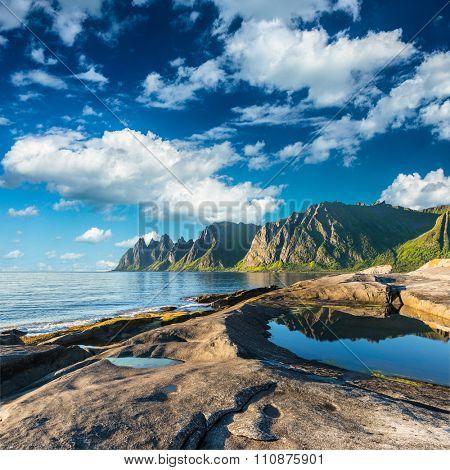 Rock Davil's Jaw. Norwey,island Senja poster