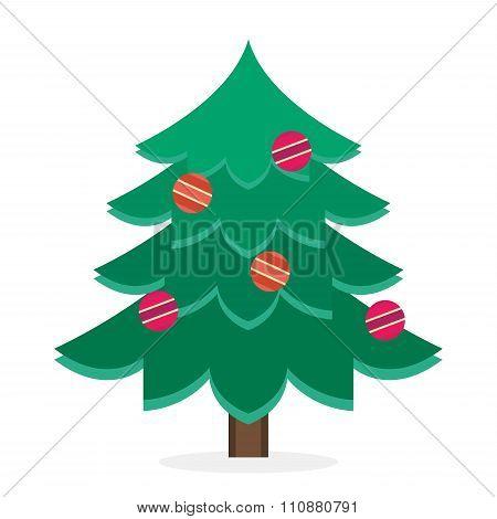 Christmas tree flat icons set