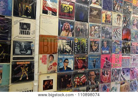 Vintage Pop Music Vinyl Records