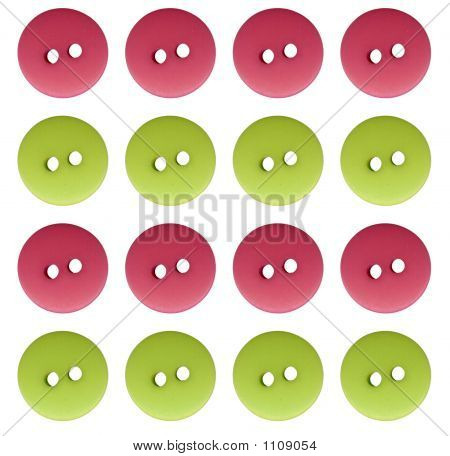 Pink And Green Buttons