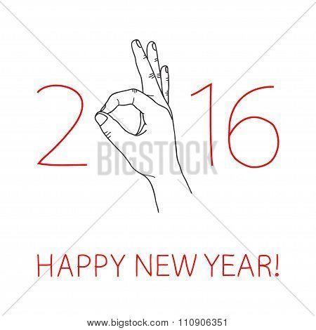 New Year greeting card
