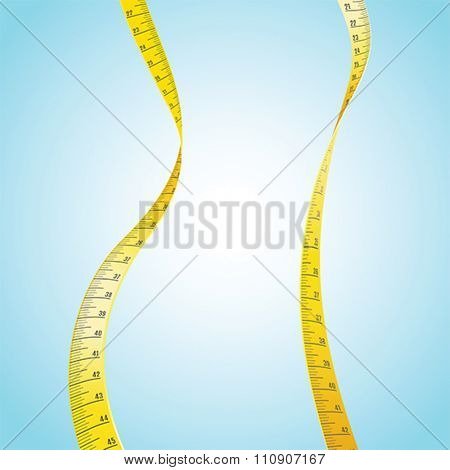 Measuring Tape in a shape of a woman's slim body
