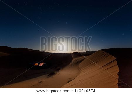 Bedouin nomad tent camp