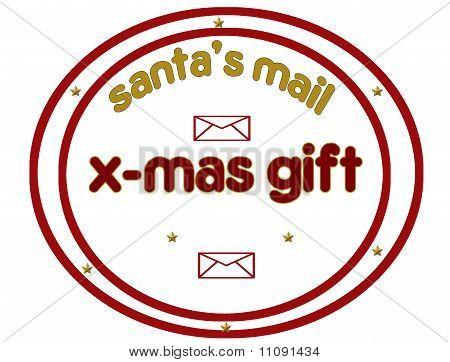 Santa's Mail Stamp