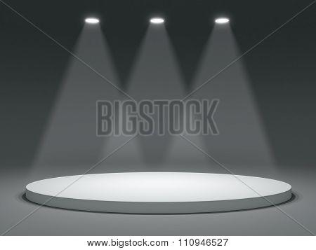 Round shape stage